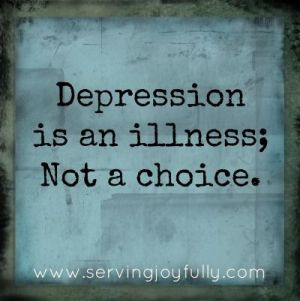 Depression is not a choice