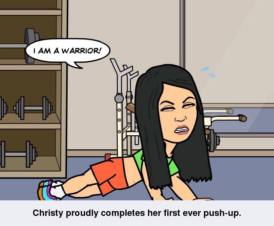 warrior push up