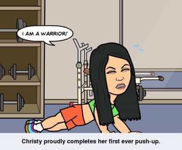 warrior push up